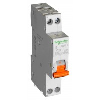 Диф автомат 25А Schneider Electric АД63К 1P+N 30MA C 18мм